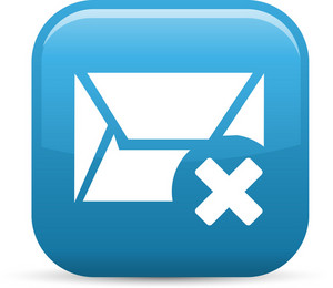 Delete Message Elements Glossy Icon