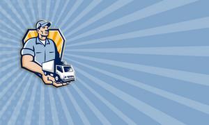 Delivery Man Handing Removal Van