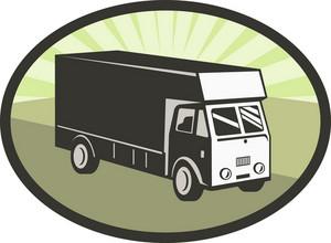 Delivery Van Retro Style