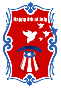 Democracy 4th Of July Vector Illustration