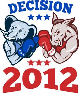Democrat Donkey Republican Elephant Decision 2012