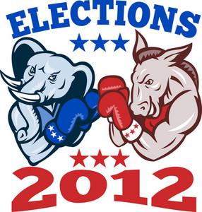 Democrat Donkey Republican Elephant Mascot 2012
