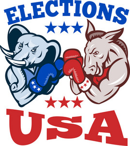 Democrat Donkey Republican Elephant Mascot Usa