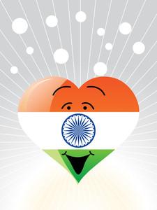 Democratic Indian Heart Vector Illustration