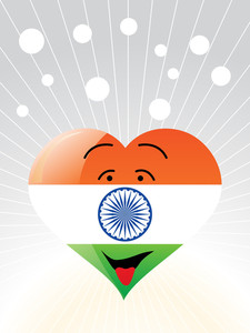 Democratic Indian Heart Vector Wallpaper