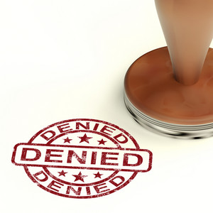 Denied Stamp Showing Rejection Decline Or Refusal