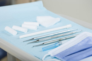 Dental tools in medical office