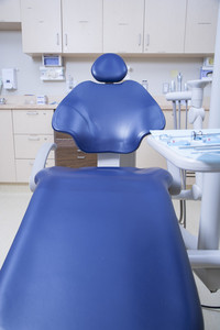 Dentist's chair in medical office