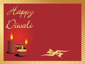 Depawali Background With Deepak