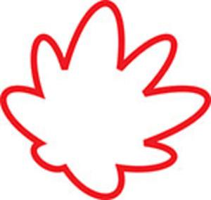 Design Element Of A Canadian Leaf .