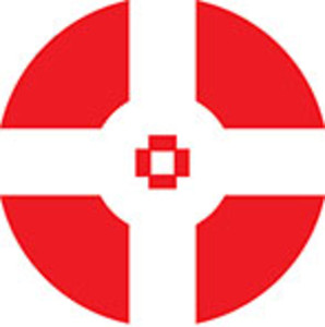 Design Element Of A Circle On Red.