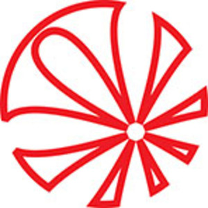 Design Element Of A Circle With Flower Effect.