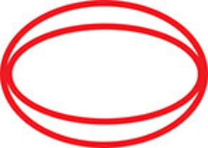 Design Element Of Oval Shape.