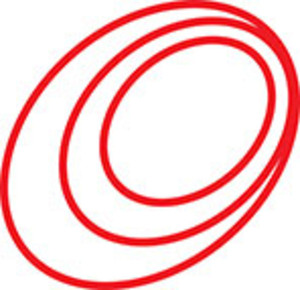 Design Element Of Oval Spiral.