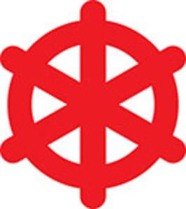Design Element Of Ship Steering Wheel.