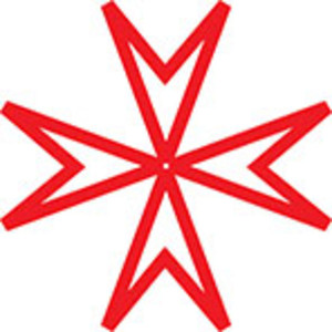 Design Element Of Triangle's Sketch In Flower Shape.