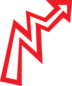 Design Element Of Zigzag Style Arrow.