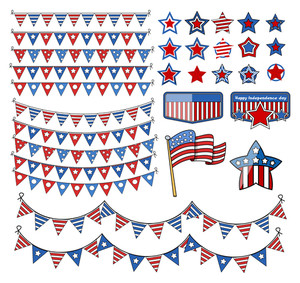 Design Elements 4th Of July Vector Illustration
