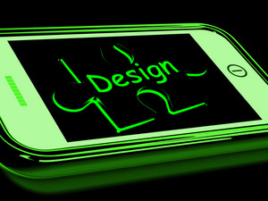 Design On Smartphone Shows Mobile Designing