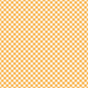 Design Pattern Of Orange Checks On An Autumn Background