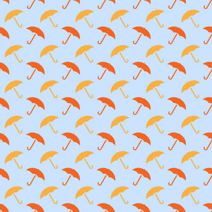 Design Pattern Of Umbrellas On An Autumn Background