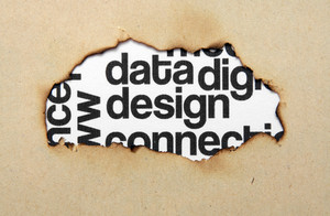 Design Text On Paper Hole