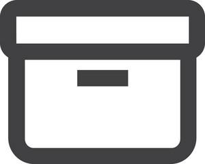 Desk Bin Stroke Icon