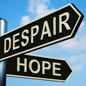 Despair Or Hope Directions On A Signpost
