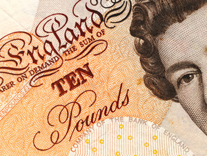 Detail Of A British Ten Pound Note. -