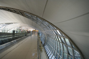 Detail of beautiful interior modern airport