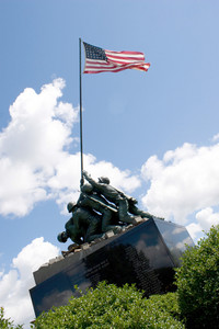 Detail of the Iwo Jima Memorial Statue located in New Britain