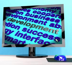 Development Word On Computer Showing Advancement
