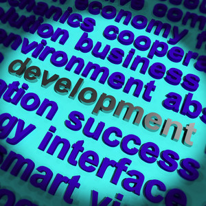 Development Word Showing Improvement Advancement And Growth