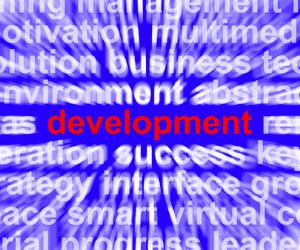 Development Word Shows Improvement Advancement And Growth