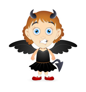 Devil Cartoon Girl