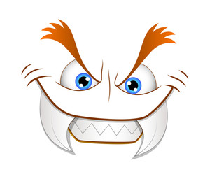 Devil Laughing Face Illustration