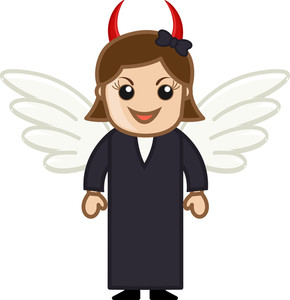 Devil Woman - Vector Character Cartoon Illustration