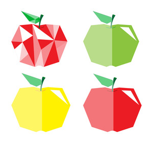 Diamond Shape Colorful Apples