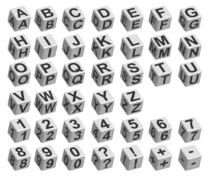 Dice Font Vector Illustration
