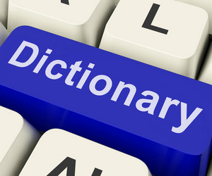 Dictionary Key Shows Online Or Web Definition Reference