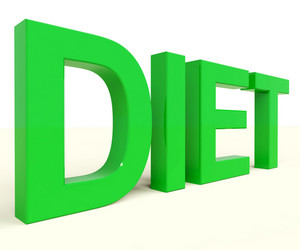 Dieting Word Showing Diet Information And Recommendations