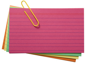 Different Colored Blank Index Cards