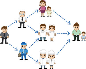 Different People In Network  - Business Cartoon Characters Vector