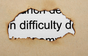 Difficulty Text On Paper Hole