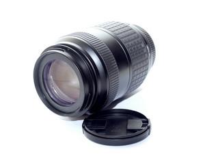 Digital Camera Telephoto Isolated In White