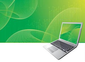 Digital Green Abstract. Vector.