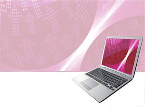 Digital Pink Abstract. Vector.