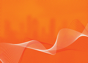 Digital Wave On Spoted Orange Background