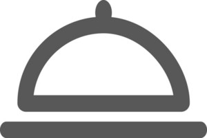 Dinner Platter Stroke Icon