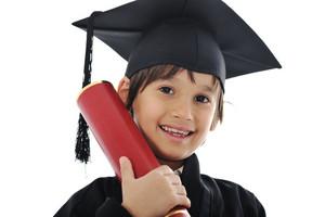 Diploma graduating little student kid
